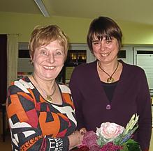 Diskussion über die Menschenrechte mit der ehemaligen Landtagsabgeordneten Sigrid Leuschner.